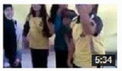 video tarian sholat siswi SMA Toli-Toli