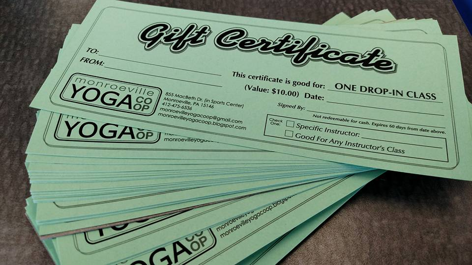 GIFT CERTIFICATES always available
