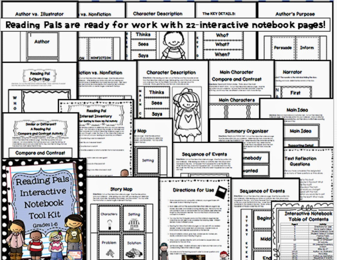 http://www.teacherspayteachers.com/Product/Reading-Pal-Interactive-Notebook-Tool-Kit-for-Grades-1-6-1217098