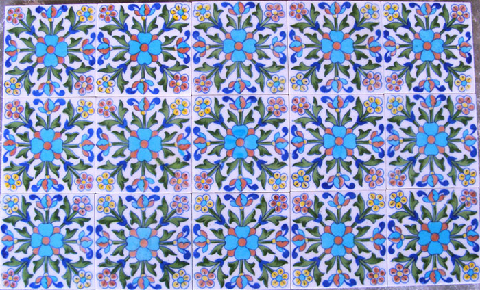 Indian Blue Pottery Tiles Tile
