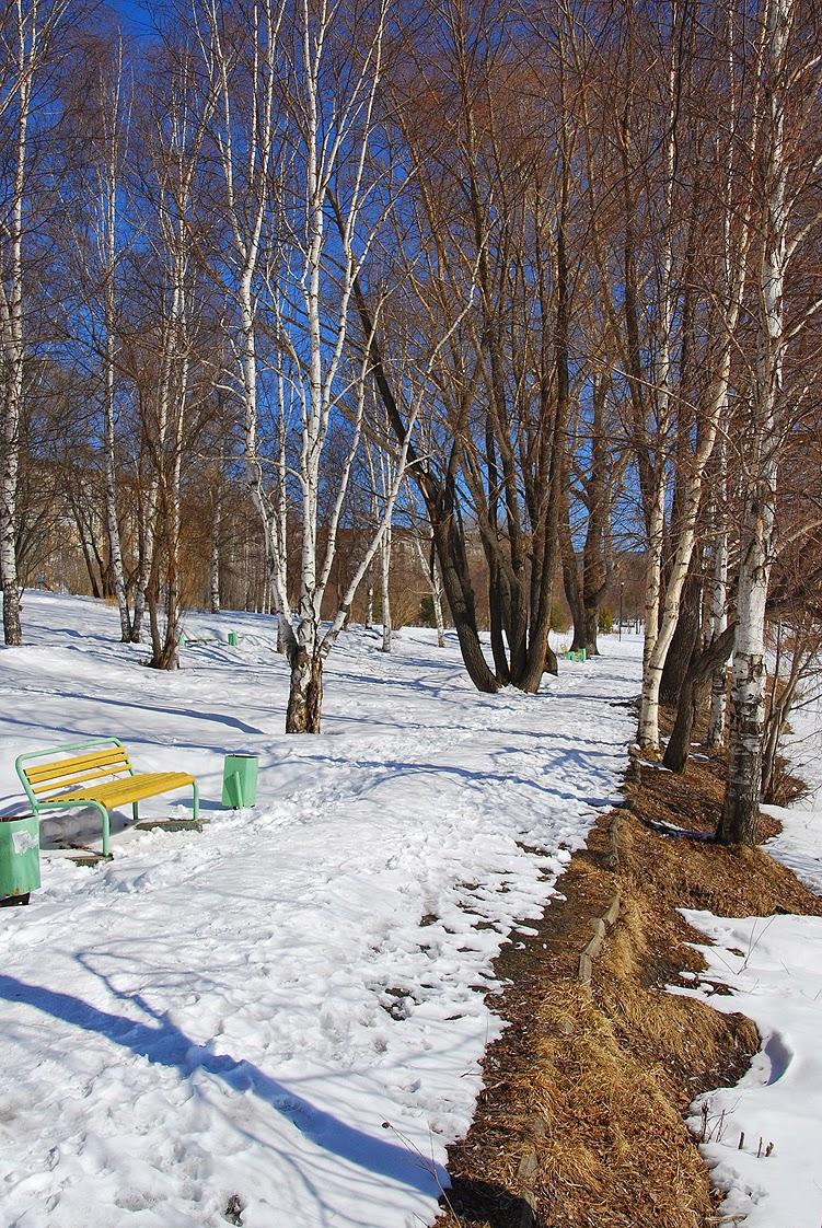 Лысьва, детский парк, весна
