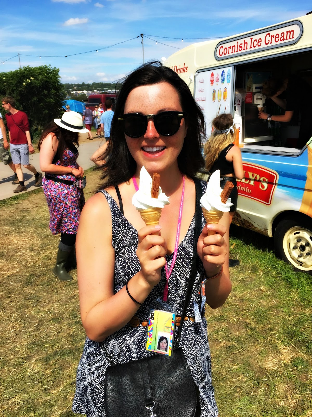 Glastonbury festival ice cream
