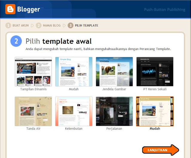 cara cepat membuat blog