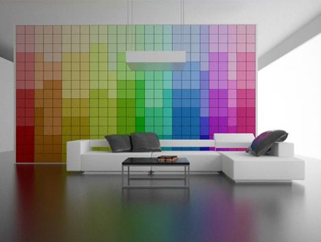 colorful interior wall concept