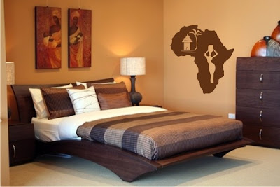 la folie du wax la d coration africaine. Black Bedroom Furniture Sets. Home Design Ideas