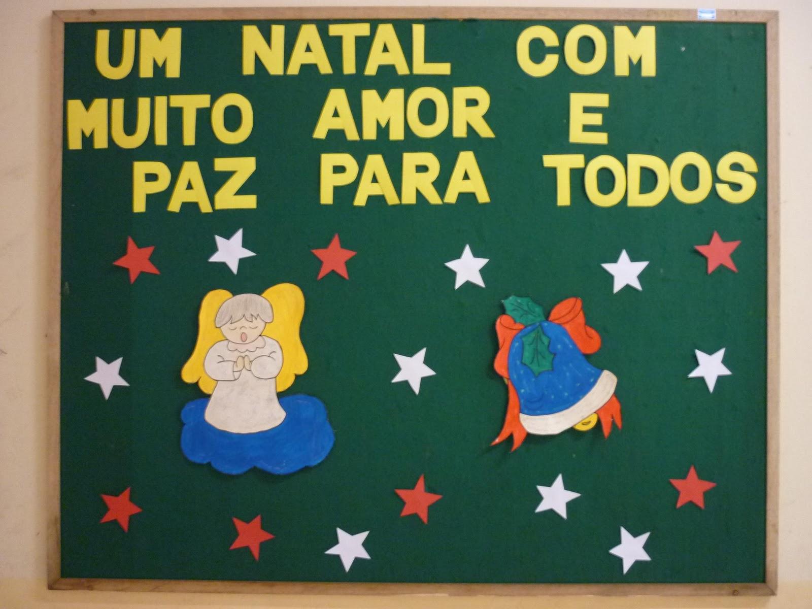 Emeb prefeito frederico lampe clima de natal for Mural sobre o natal