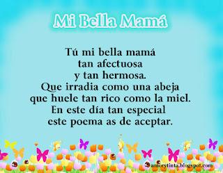 imagen poema mi bella mama