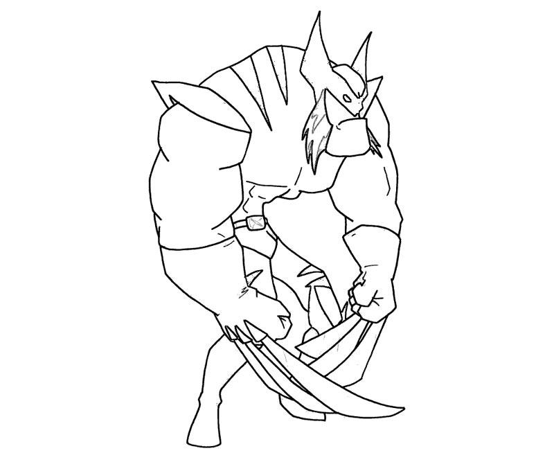 #5 Wolverine Coloring Page