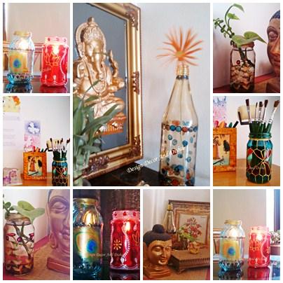 Design Decor Disha An Indian Design Decor Blog When Creative Impressive Stained Glass Wine Bottle Decorations