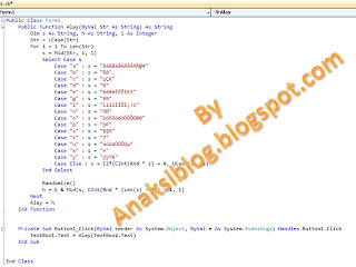 syntak teks alay genarator vb.net 2010