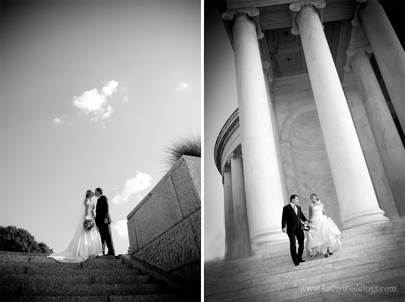 wedding portraits Jefferson Memorial