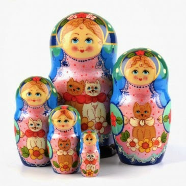 Matryoshka with Cats Item # ND02147A05