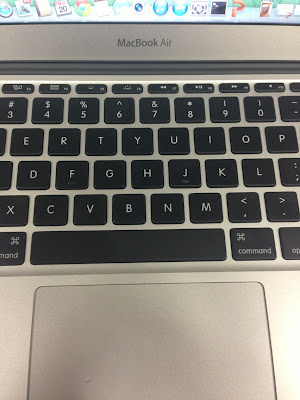 macbook air mid 2013 USキーボード まんなか