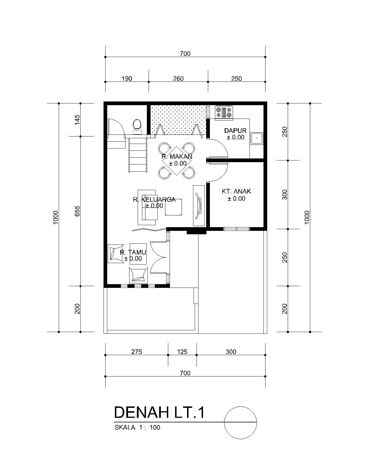 planning of buildings: DESAIN RUMAH MINIMALIS MUNGIL 7 X