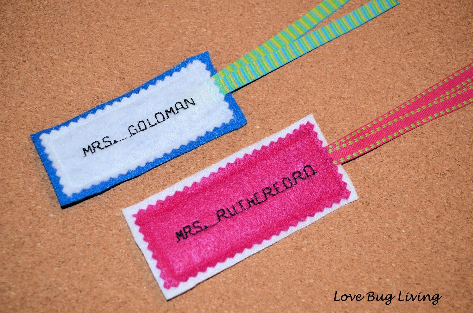 Love Bug Living: Embroidered Felt Bookmark Teacher\'s Gift