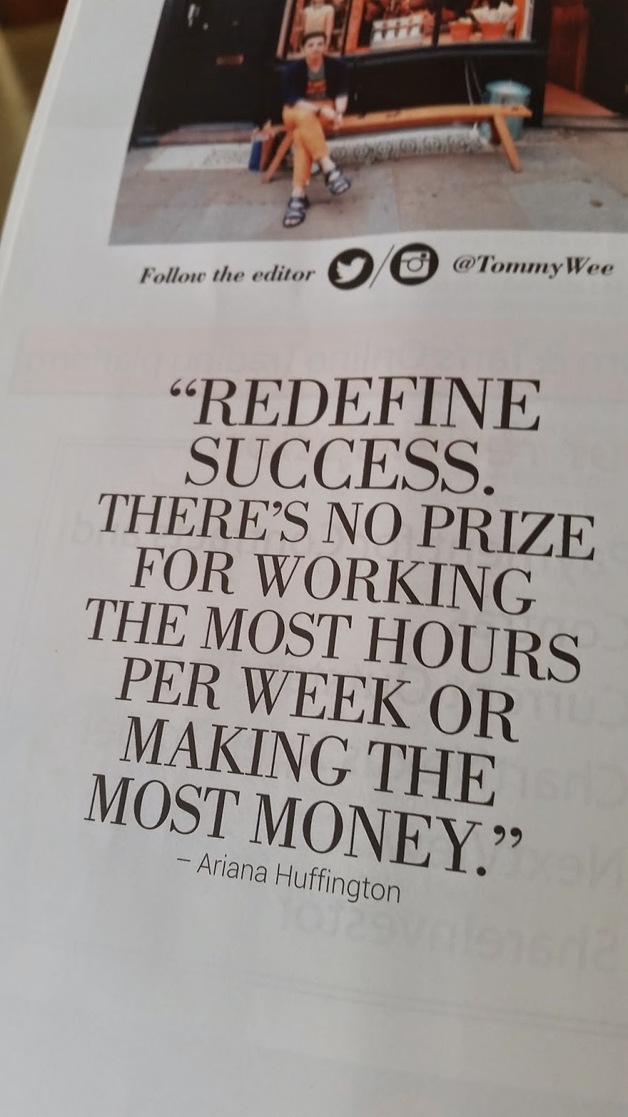 Quote about redefining success