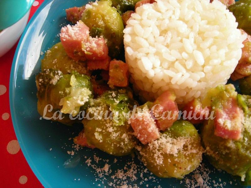 La cocina de camilni coles de bruselas al toque de parmesano - Cocer coles de bruselas ...