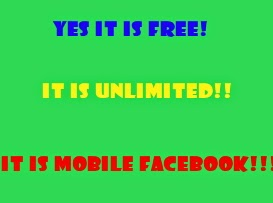 Free Unlimited Access to Facebook on Your Mobile!