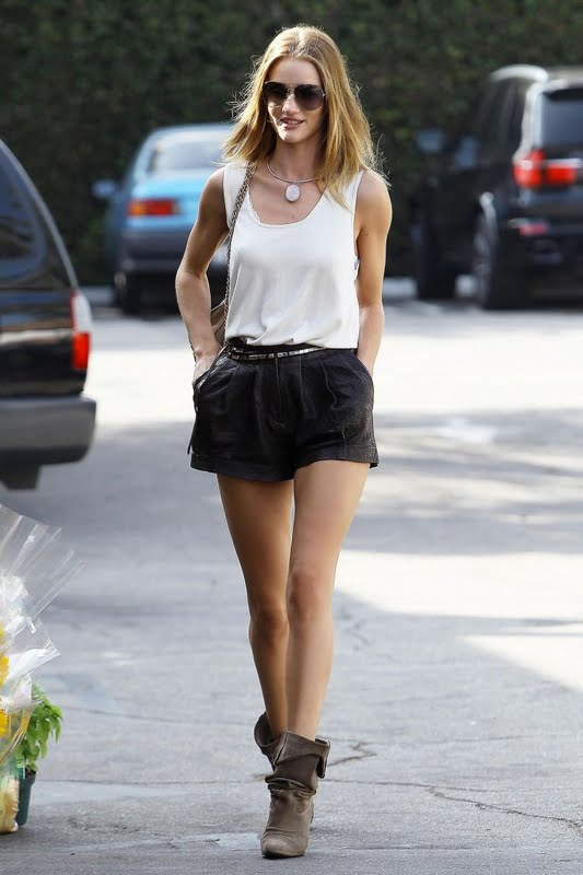 Rosie Huntington-Whiteley walking