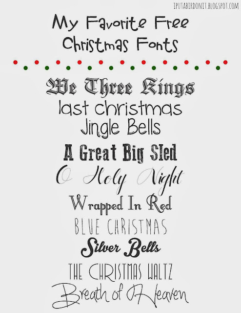 put a bird on it  my favorite free christmas fonts and a
