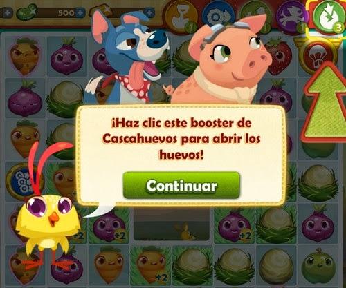 Booster cascahuevos Farm Heroes Saga