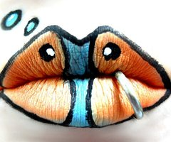 Cute Fish Themed Lip Makeup