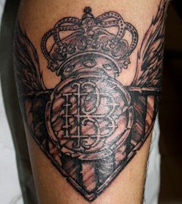 Tatuajes Del Escudo Del Betis ultras béticos: tatuajes