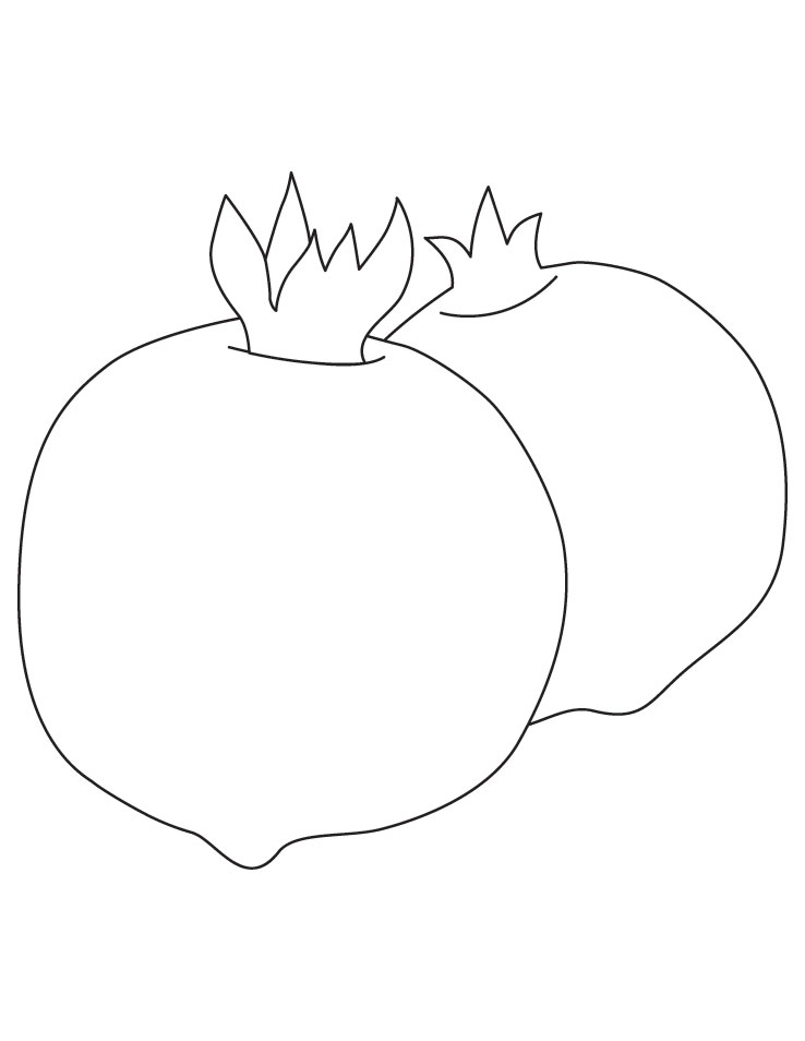 Fruits Coloring Sheet Pictures
