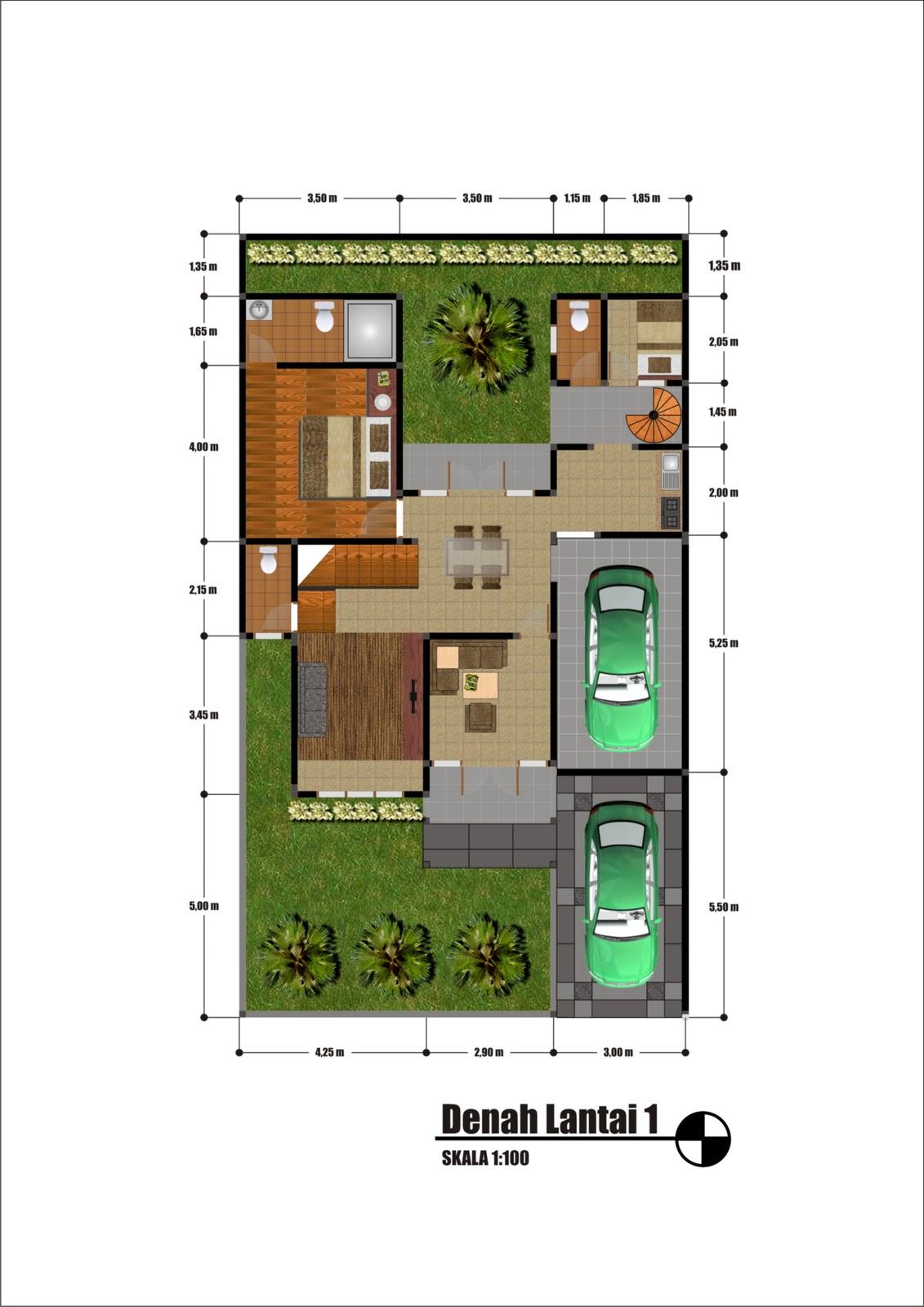 desain rumah contoh denah rumah desain home office short