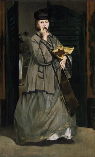 Street Singer, c. 1862. Photo courtesy Museum of Fine Arts, Boston