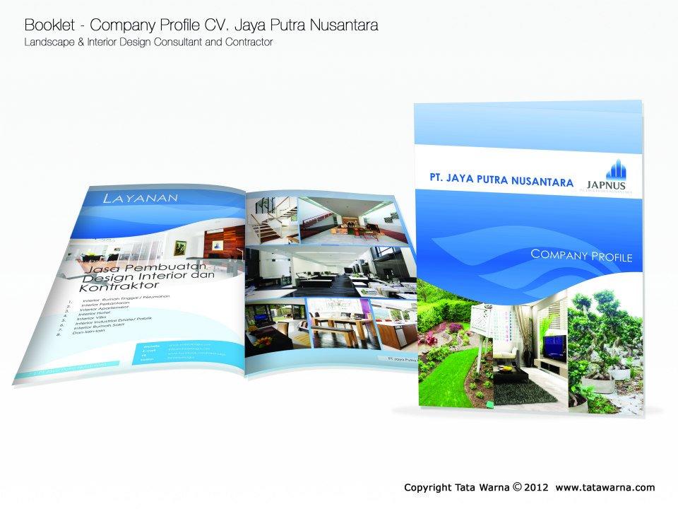 Berikut beberapa contoh desain company profile perusahaan jasa karya