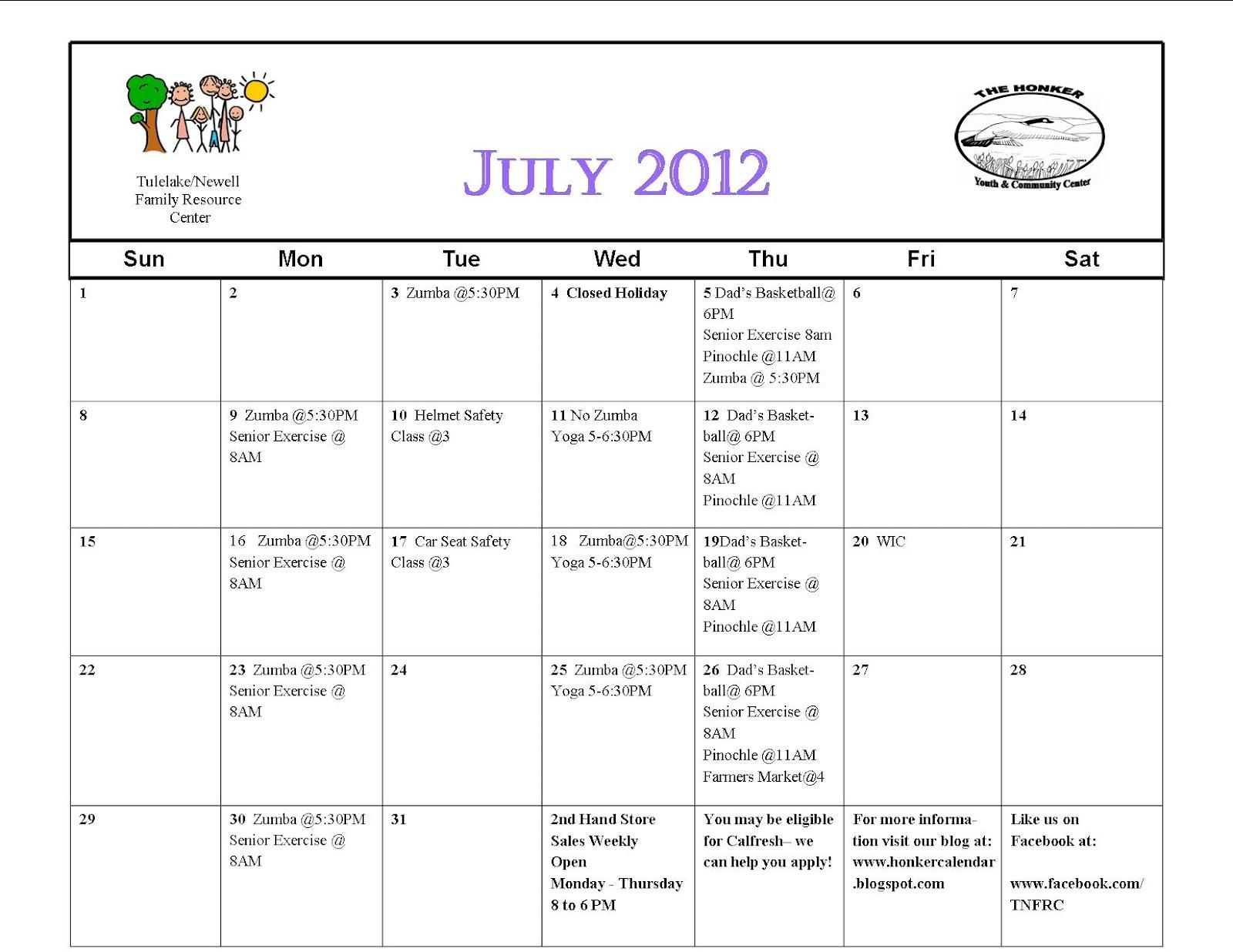 Activity calendars july new calendar template site for Assisted living activity calendar template