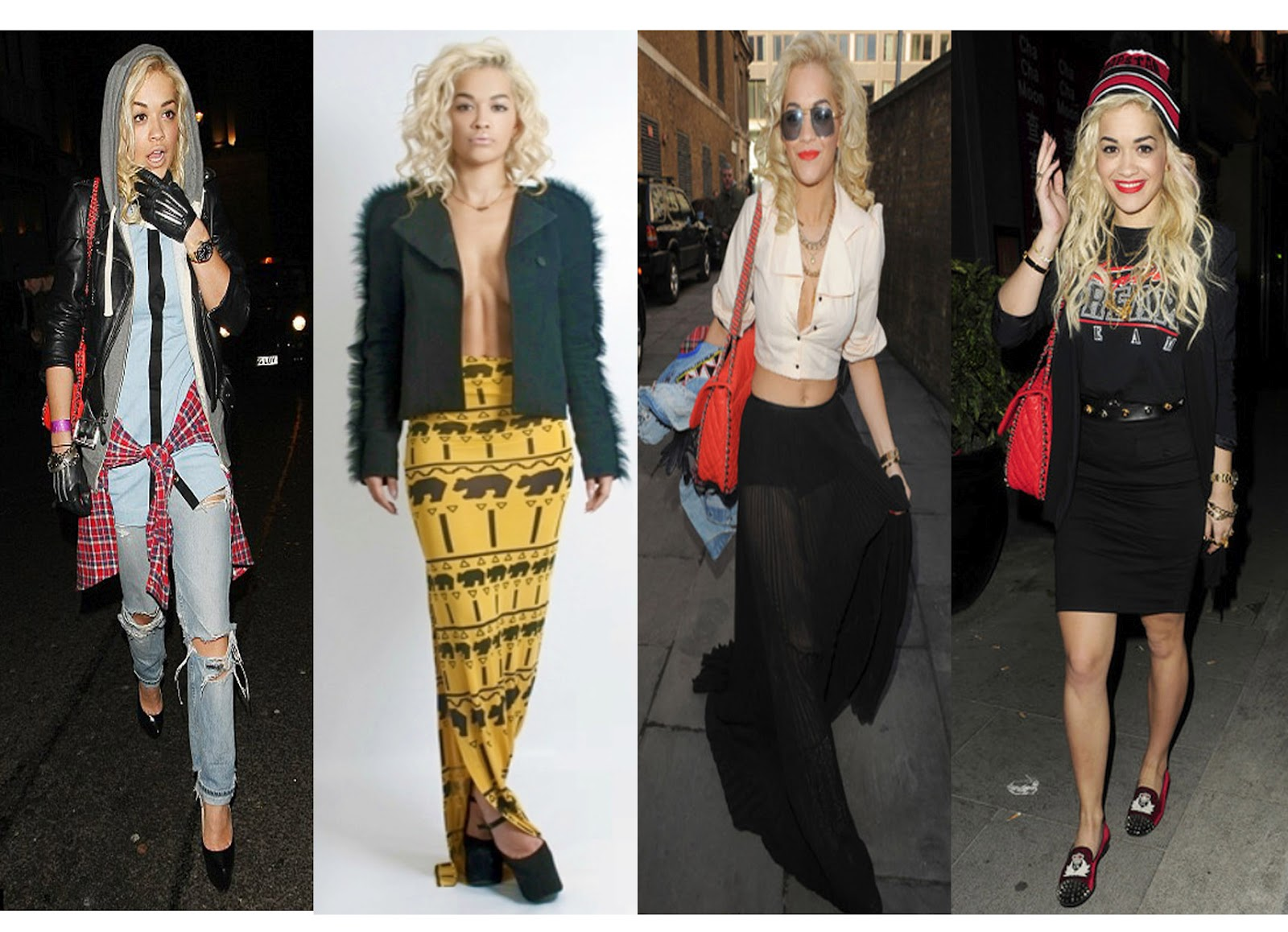 Rita Ora At The Moment Her Bold Blonde Curls And Unique Fashion Sense
