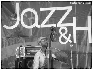 Junious Paul - Makaya McCraven Quartet - 2015 Chicago Jazz Festival   Photograph by Tom Bowser