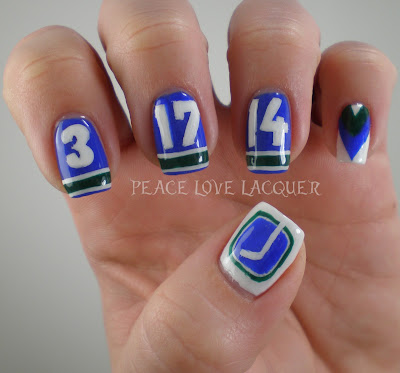Vancouver, Canucks, Nail Art, Hockey, NHL