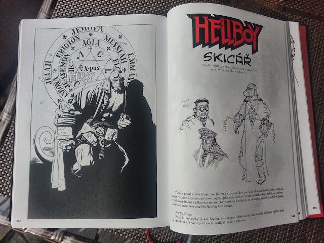 Hellboy pekelná knižnice skicář