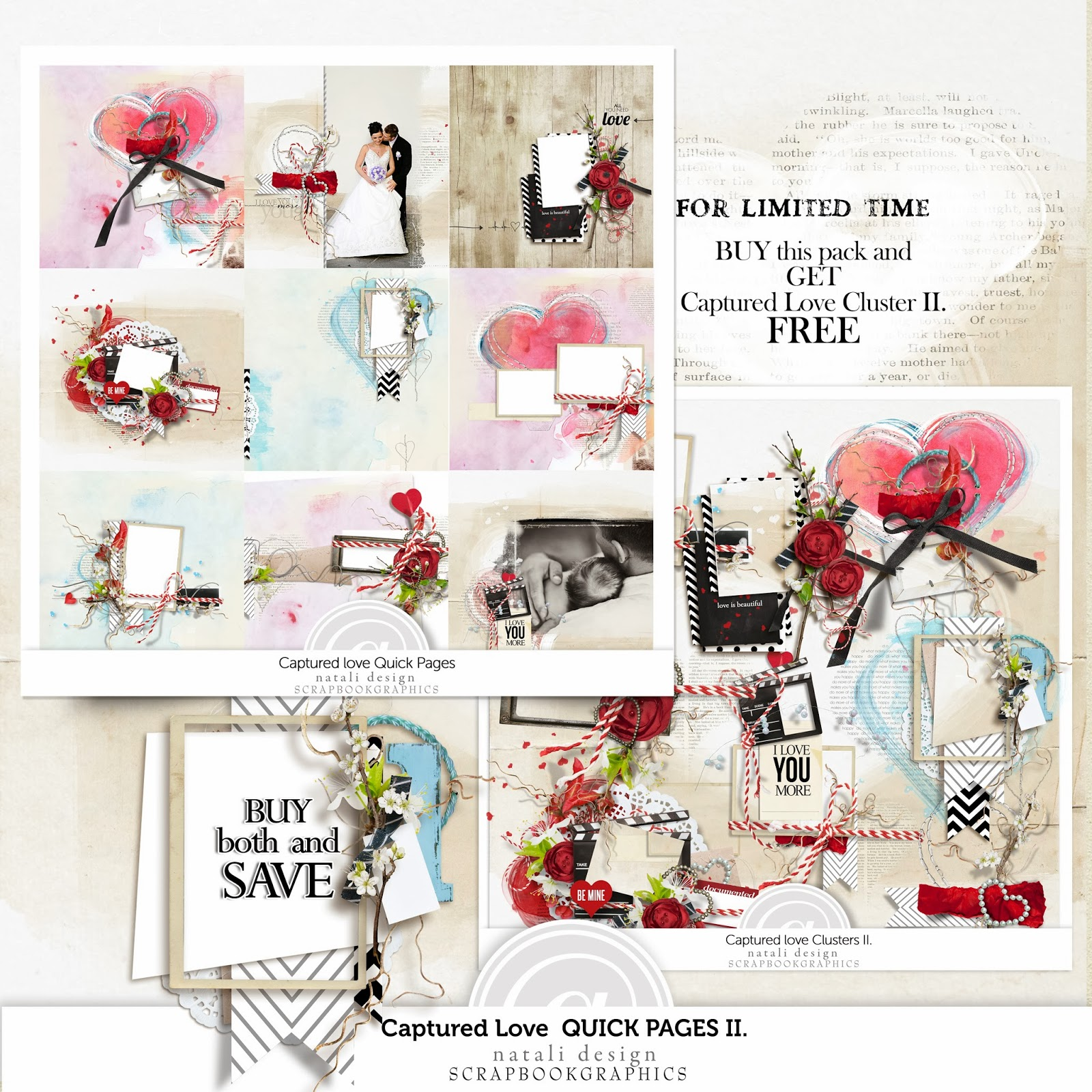 http://shop.scrapbookgraphics.com/Captured-Love-Quick-Pages-2.html