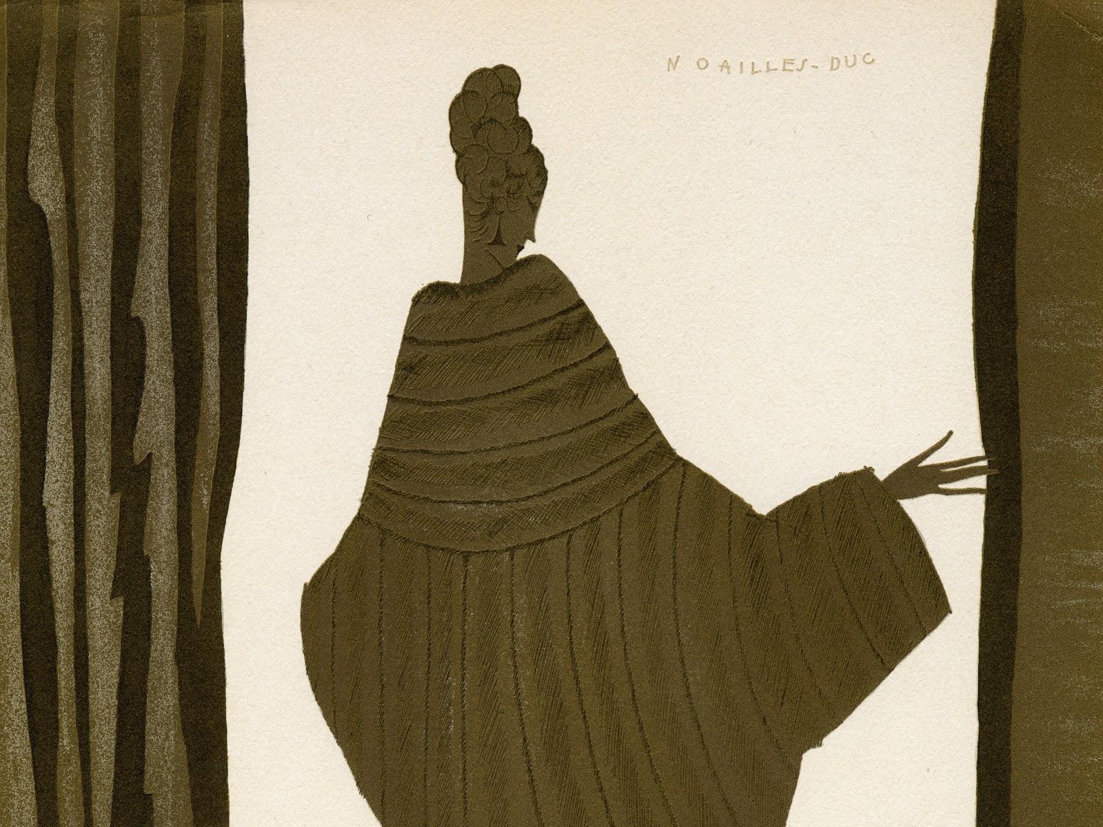 Eduardo Garcia Benito - Dernière lettre persane mise en français et accompagnée de douze dessins exécutés dans le gout persan. París, La Maison Fourrures Max, realizado por Draeger Frères, (1920) ZOOM