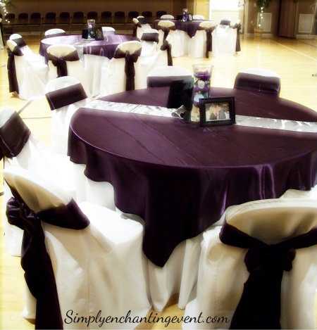Simply Enchanting Event Eggplant amp SIlver Wedding