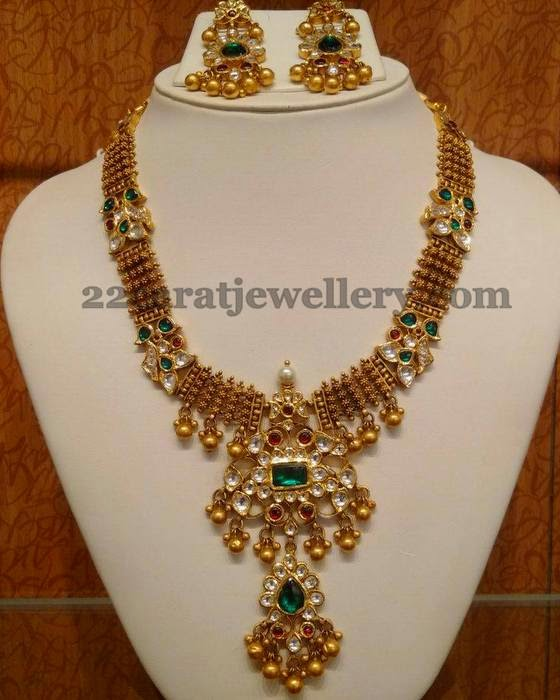Kundan Necklace with 2 Step Locket