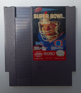 tecmo super bowl game cartridge for the NES