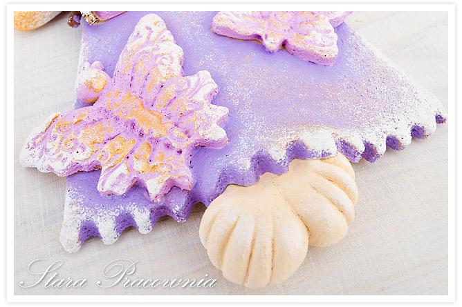 figurki ozdoby z masy solnej, salt dough angel, salt dough