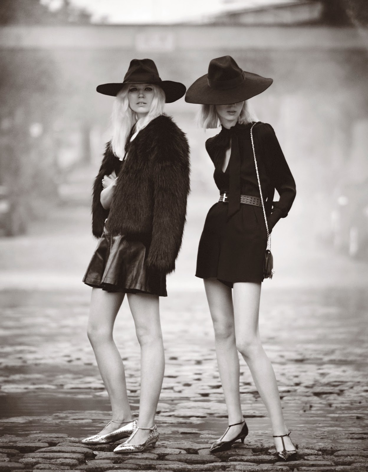Ola Rudnicka and Esmeralda Seay-Reynolds by Boo George for W September 2014