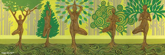 Tree Poses / Vrkasana por Angeles Moreno
