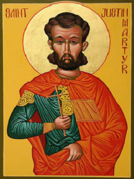 SAN JUSTINO MARTIR PADRE DE LA IGLESIA (100-165). Fiesta 01 de Junio