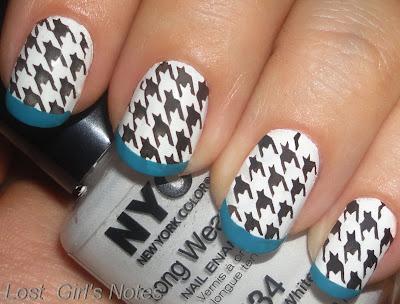 designer inspired manicure nail art