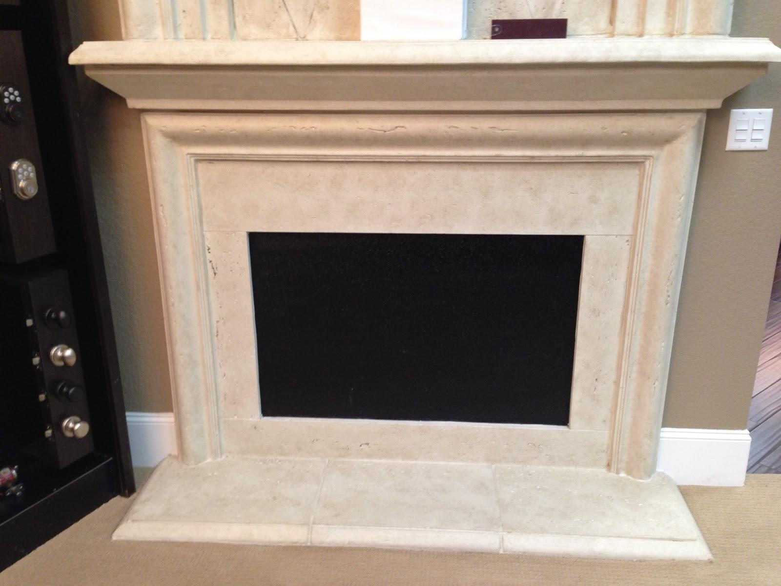 Travertine Subway Tile Fireplace Surround