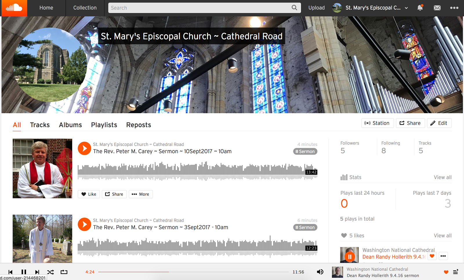 Sermons on Soundcloud