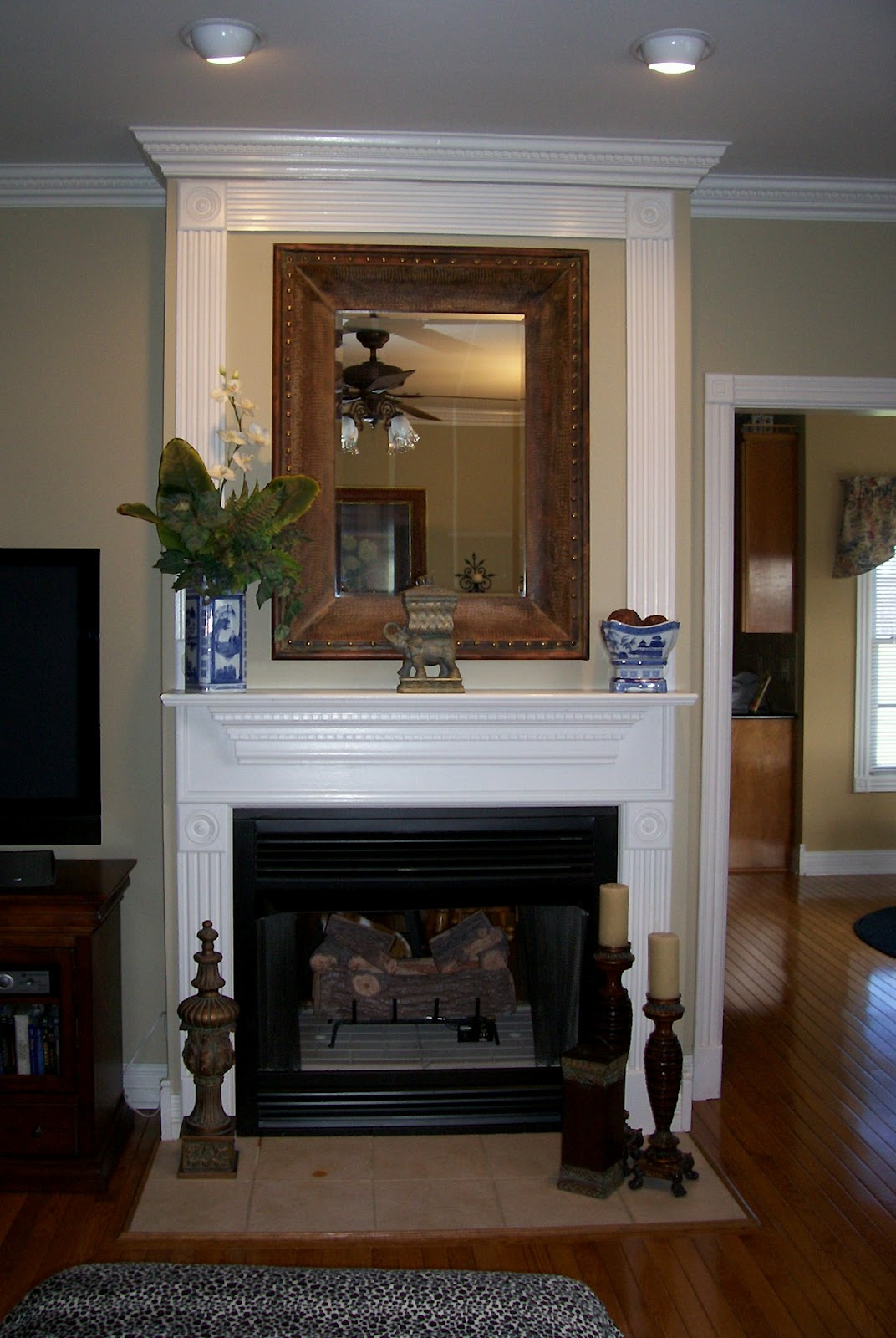 ceiling chairs pinstripe featuring mirror top gilded gold shop waffle gorgeous mantel windows mirrors hide georgian mantle side inspiration spaces room ideas home rug cozy living navy gilt traditional cow look most fireplace stunning black