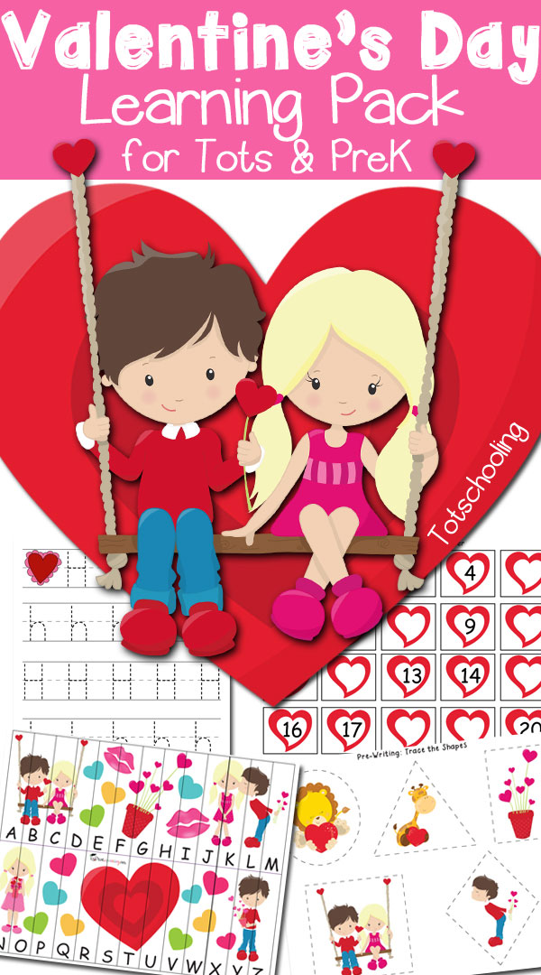 Free Valentine\'s Day Learning Pack for Toddlers & Preschoolers ...